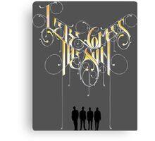 creative typography Canvas Print