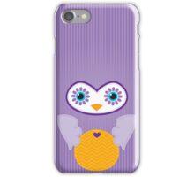 IPhone :: cute owl face - purple iPhone Case/Skin