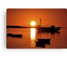 Sunset in Saint-Valery-sur-Somme, North West France Canvas Print