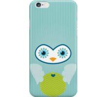 IPhone :: cute owl face - mint green iPhone Case/Skin