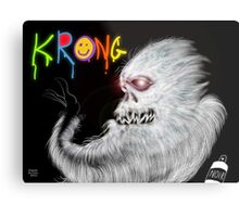 Krong, the Spray-Painting Yeti drawing 1 Metal Print