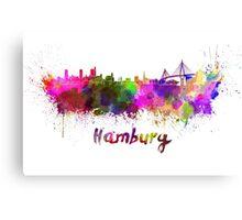 Hamburg skyline in watercolor Canvas Print