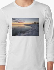 Small Cove Pink and Snowy Dawn Long Sleeve T-Shirt