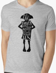 The ones we love never truly leave us Mens V-Neck T-Shirt