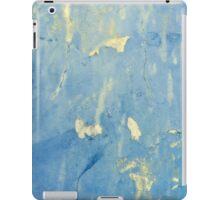 Blue and yellow peeling paint design ipad iphone cases iPad Case/Skin