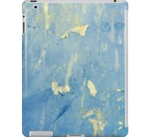 Blue and yellow peeling paint design ipad iphone cases iPad Case/Skin
