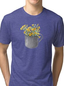 Mug with primulas Tri-blend T-Shirt
