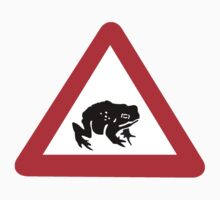 Frog Crossing, Warning Sign, UK by worldofsigns
