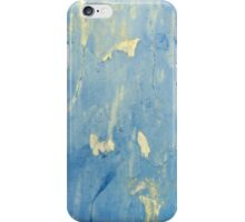 Blue and yellow peeling paint design ipad iphone cases iPhone Case/Skin