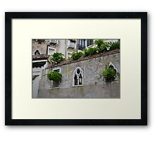 Stunning Courtyard Display Framed Print