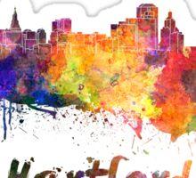 Hartford skyline in watercolor Sticker