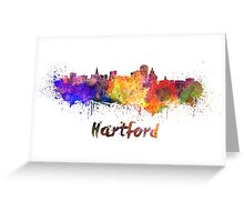 Hartford skyline in watercolor Greeting Card