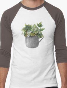 Mug with green forest growth Men's Baseball ¾ T-Shirt