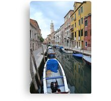 Quiet Residential Street...ooh sorry Canal! Canvas Print