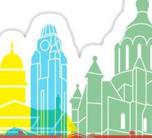 Helsinki skyline pop Sticker