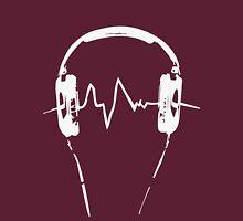 Headphones Frequency Girls funny nerd geek geeky Unisex T-Shirt