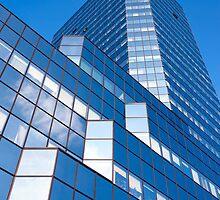 Skyscraper Blue Facade by Artur Bogacki