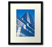 Skyscraper Blue Facade Framed Print