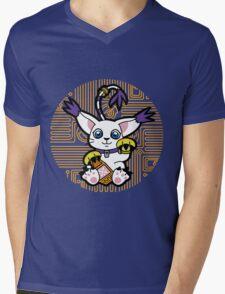 Digi Maneki Neko Mens V-Neck T-Shirt