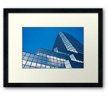 Blue Sky on Office Building Facade Framed Print