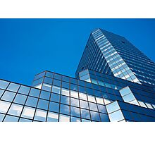 Blue Sky on Office Building Facade Photographic Print
