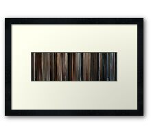 Moviebarcode: The Ides of March (2011) Framed Print