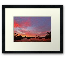 Glorious sunset at Hartland farm Framed Print