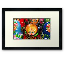 Blond Haired-Blue Eyed Matryoshka Doll Framed Print
