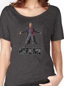 Spike from Buffy - Bite Me Women's Relaxed Fit T-Shirt