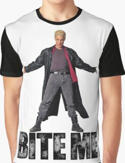 Spike from Buffy - Bite Me Graphic T-Shirt