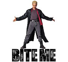 Spike from Buffy - Bite Me Photographic Print