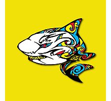 Colourful Armored Shark Photographic Print