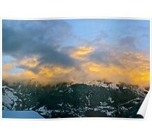 Cloud Formation on the Mountain. Poster