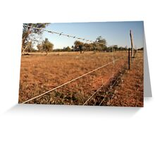 Outback fence Greeting Card
