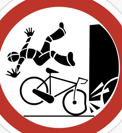Bikers, Be Careful, Warning Sign, Switzerland Sticker
