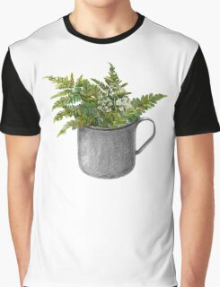 Mug with fern leaves Graphic T-Shirt