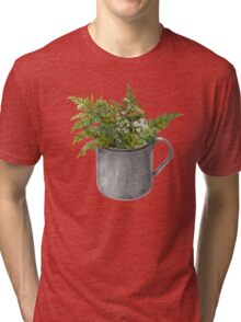 Mug with fern leaves Tri-blend T-Shirt