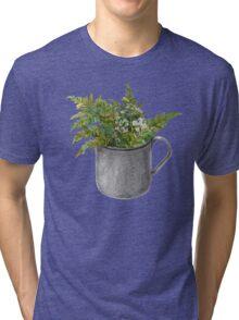 Mug with fern leaves Tri-blend T-Shirt