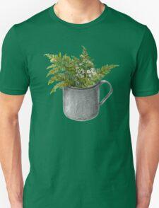 Mug with fern leaves Unisex T-Shirt