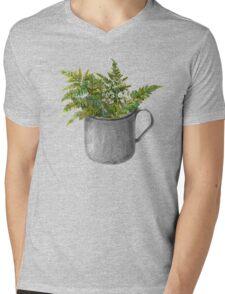 Mug with fern leaves Mens V-Neck T-Shirt