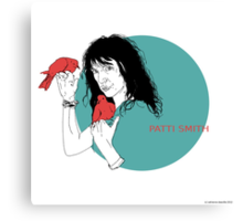 Patti Smith and Red Doves Canvas Print