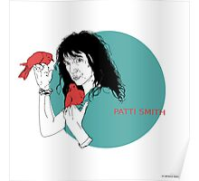 Patti Smith and Red Doves Poster