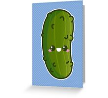 Kawaii Pickle Greeting Card