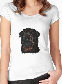 Male Rottweiler Women's Fitted Scoop T-Shirt
