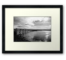 Culross Pier in Autumn Framed Print