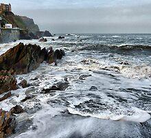 Rough Seas at Illfracombe. by Lilian Marshall