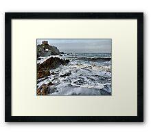 Rough Seas at Illfracombe. Framed Print