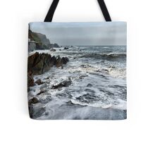 Rough Seas at Illfracombe. Tote Bag