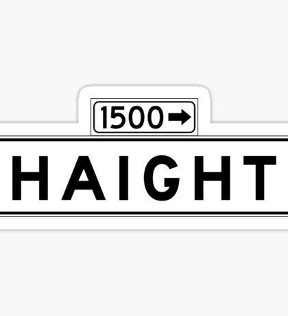 Haight St., San Francisco Street Sign, USA Sticker