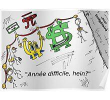 Euroman Bucky caricature et la falaise fiscale Poster